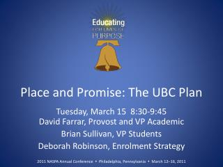 Place and Promise: The UBC Plan