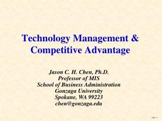 Technology Management & Competitive Advantage