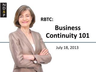 RBTC: Business Continuity 101