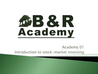 Academy 01 Introduction to stock-market investing