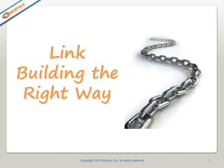 Link Building the Right Way