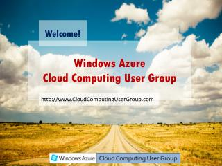 Windows Azure Cloud Computing User Group