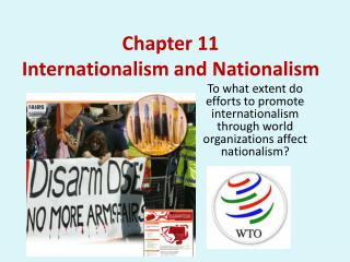 Chapter 11  Internationalism and Nationalism