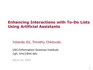 Enhancing Interactions with To-Do Lists Using Artificial Assistants