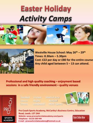 Easter Holiday Activity Camps