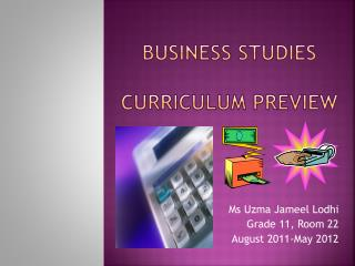 Business Studies Curriculum Preview