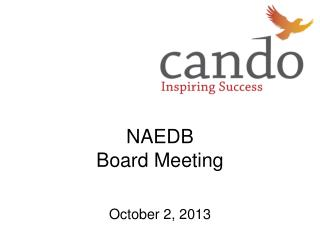 NAEDB  Board Meeting October 2, 2013