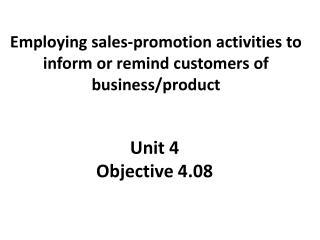 Unit 4 Objective 4.08