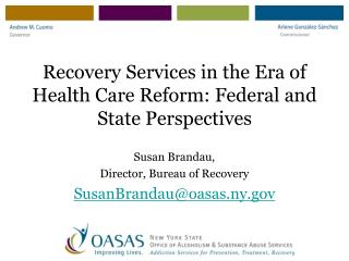 Recovery Services in the Era of Health Care Reform: Federal and State Perspectives