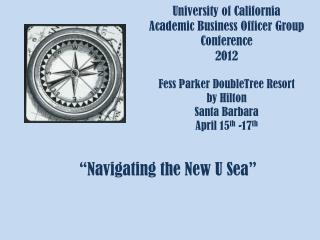 """Navigating the New U Sea"""