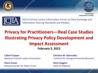 Privacy for Practitioners—Real Case Studies Illustrating Privacy Policy Development and Impact Assessment February 5, 2