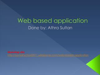 Web based application