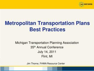 Metropolitan Transportation Plans Best Practices