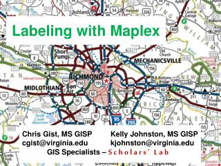 Labeling with  Maplex