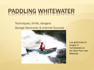Paddling Whitewater