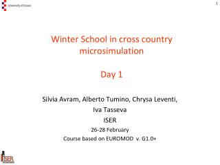 Winter School in cross country  microsimulation Day 1