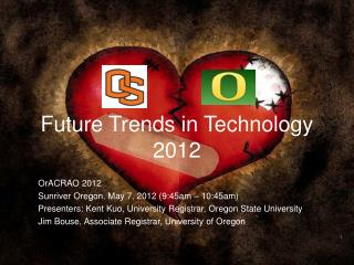 Future Trends in Technology 2012