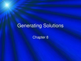 generating solutions