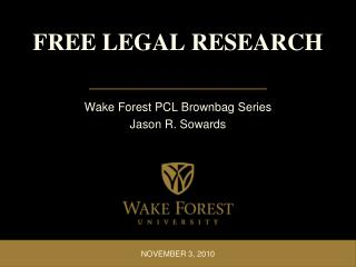 FREE LEGAL RESEARCH