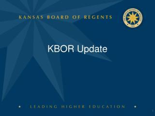 KBOR Update