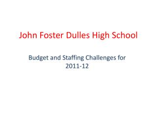 John Foster Dulles High School