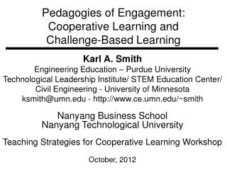 Pedagogies of  Engagement: Cooperative Learning and Challenge-Based Learning