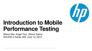 Introduction to Mobile Performance Testing