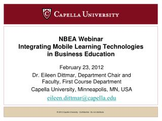 NBEA Webinar Integrating Mobile Learning Technologies in Business Education