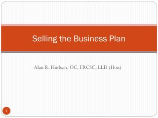Selling the Business Plan