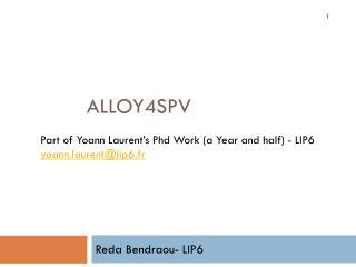 Alloy4SPV