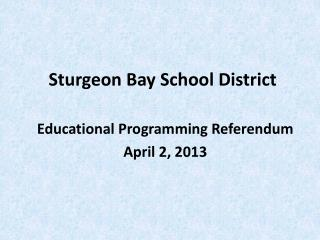 Sturgeon Bay School District