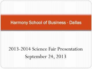 Harmony School of Business - Dallas