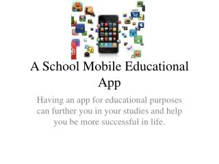 A School Mobile Educational App