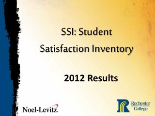 SSI: Student  Satisfaction Inventory
