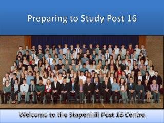 Preparing to Study Post 16