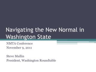 Navigating the New Normal in Washington State