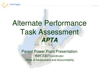Alternate Performance Task Assessment APTA
