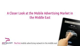 The first  mobile advertising network in the middle east