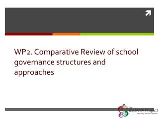 WP2.  Comparative Review of school governance structures and approaches