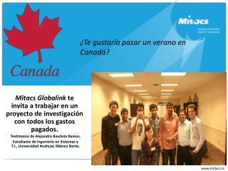 Mitacs Globalink Internship Program