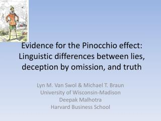 Evidence for the Pinocchio effect: Linguistic differences between lies, deception by omission, and truth
