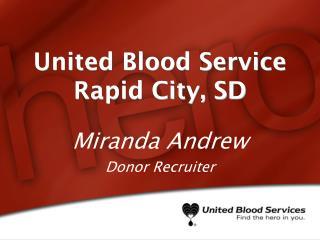 United Blood Service Rapid City, SD