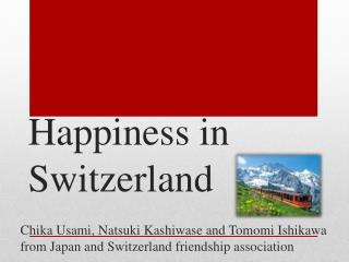 Happiness in Switzerland
