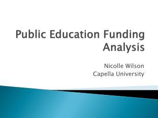 Public Education Funding Analysis