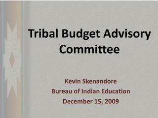 Tribal Budget Advisory Committee