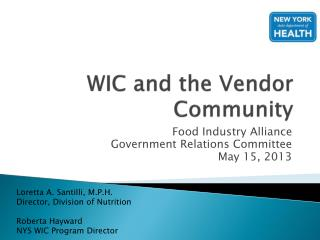 WIC and the Vendor Community