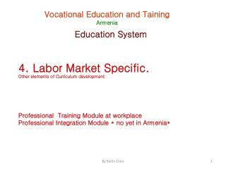 Vocational Education and  Taining Armenia