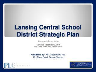 Lansing Central School District Strategic Plan