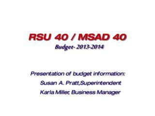 Budget- 2013-2014