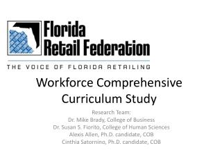Workforce Comprehensive Curriculum Study